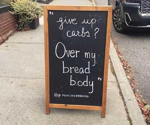 Sandwich sidewalk sign